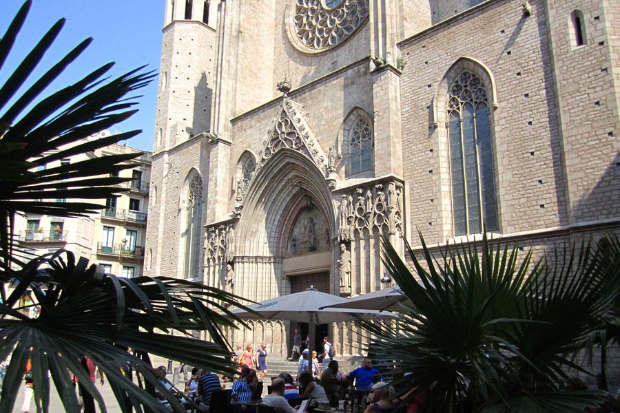 kosciol Santa maria del Mar w Barcelonie