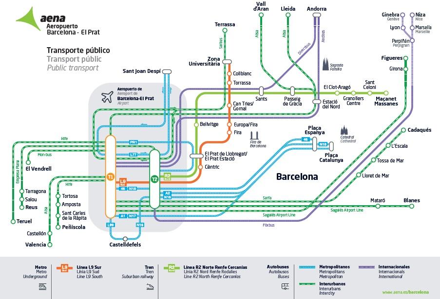 Transport Pratt Barcelona mapa