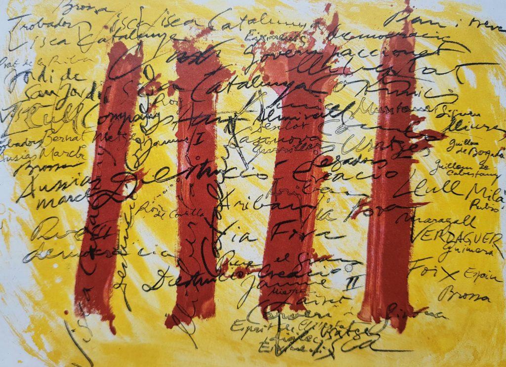 flaga Katalonii, praca Antonio Tapies