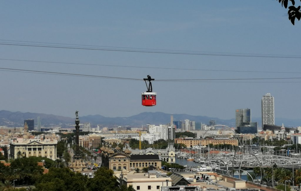 kolejka linowa na wzgóże Montjuic