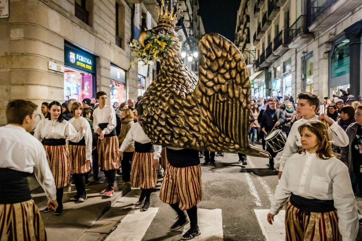 Orzeł festiwal Santa Eulalia w BArcelonie
